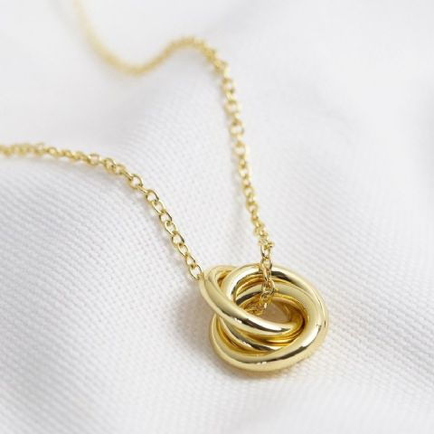 3 RINGS NECKLACE GOLD